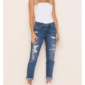 Garage Distressed Girlfriend Jeans